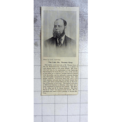 1900 Late Mr Thomas Gray Emmanuel Road Cambridge, Gas Company