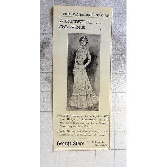 1900 Artistic Gowns Provided By George Stace 15 The Cury Cambridge