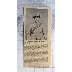 1900 Saddler Cpl H Driver 6th Dragoon Guards, Native Old Chesterton
