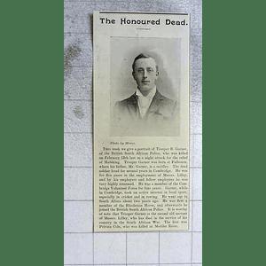 1900 Trooper B Garner, British South African Police