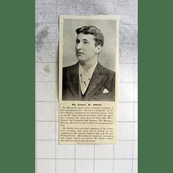 1900 Mr Ernest R Abbott Theatrical Career