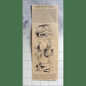 1900 Circus Variety Cambridge Bob Gates Adolph Fave, Flora Lington, Ella Leaburn