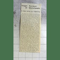 1900 Tragic Lightning Strike At Waterbeach, George Pond