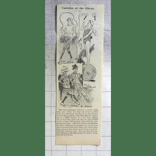 1900 Circus Variety Cambridge Denby And Dent Mlle Vanda Cissy Arris