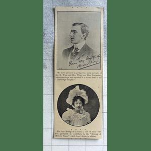 1900 Mr H Wing Marries Miss Hartmann