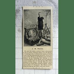 1900 Cambridge Cyclist Jm Warren Prizewinner