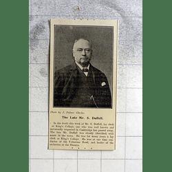 1900 Mr S Duffell Lay Clerk King's College Cambridge