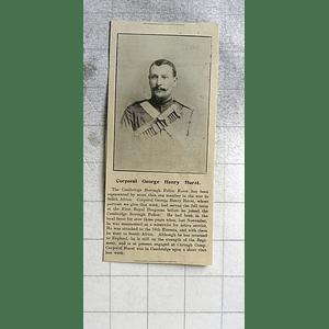 1900 Cpl George Henry Hurst Cambridge Borough Police Force
