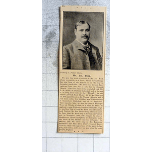 1900 Mr Jos Reed Durham Tenor, Elswick Road Choir