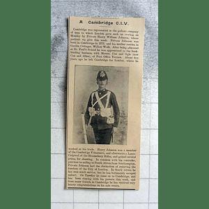 1900 Private Harry William Johnson Cambridge Volunteers Bloomsbury Rifles
