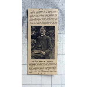 1900 Rev A Swainson New Vicar Of Chesterton
