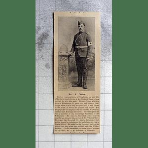 1900 Mr Richard Nunn, Cambridge Battalion Of Volunteers