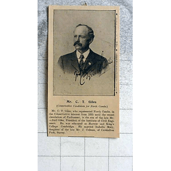 1900 Mr Ct Giles Conservative Candidate From North Cambridge