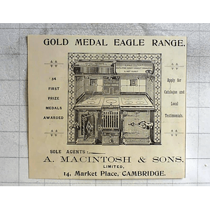 1900 A Macintosh And Sons Marketplace Cambridge Sole Agents For Eagle Range