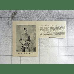 1900 Private Se Swann Barclay's Bank Cambridge, Suffolk Regiment