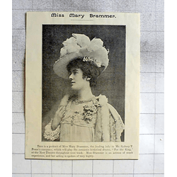 1900 Miss Mary Brammer Leading Lady At The New Theatre Cambridge