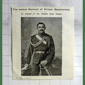 1900 Prince Ranjitsinji As Col Of Patiala Bodyguard