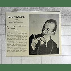 1900 Mr Walter Westwood American Heiress Performance New Theatre Cambridge