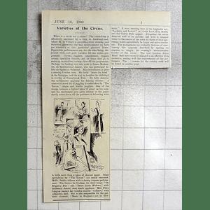 1900 Circus Varieties Cambridge, Clowns, Jugglers, Trapeze, Dancers
