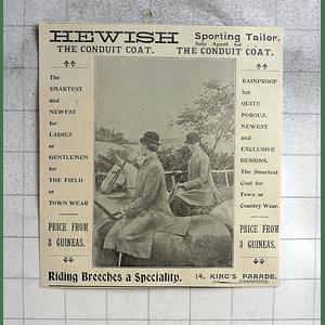 1900 Hewish Sporting Tailor, Kings Parade Cambridge