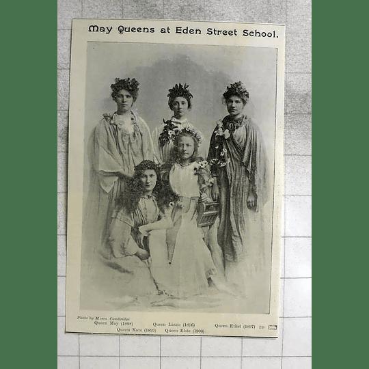 1900 Eden Street School Cambridge, Queens May, Lizzie, Ethel, Kate, Elsie