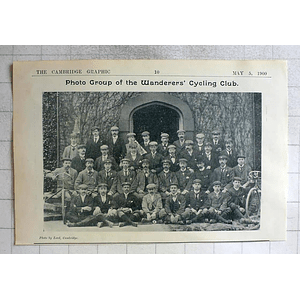 1900 Photo Group Of The Wanderers Cycling Club, Cambridge