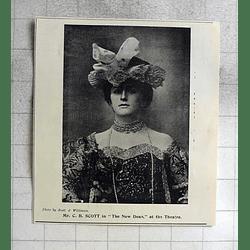 1900 Mr Cb Scott In The New Dean At The Theatre, Cambridge