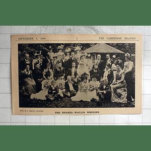 1900 The Shanks - Wallis Wedding, Cambridge