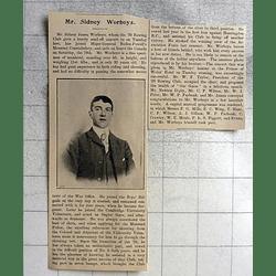 1900 Mr Sidney James Worboys, Cambridge University Volunteers