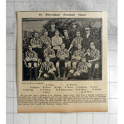 1900 St Barnabas Football Team, Cambs Jr Cup,vinsen, Utteridge, Caldecoat, Mouel