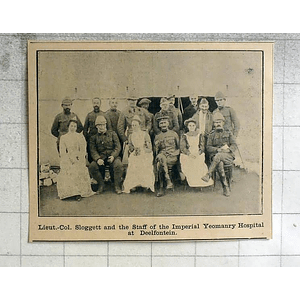 1900 Lt-col Sloggett And Staff Imperial Yeomanry Hospital, Deelfontein