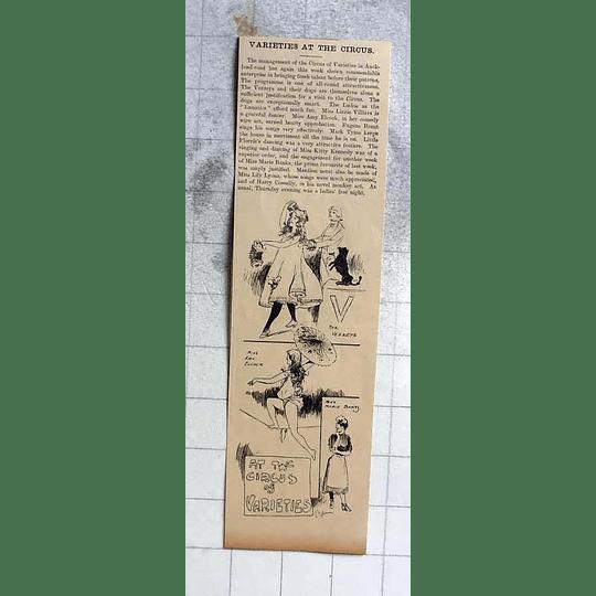 1900 Circus Varieties Cambridge, Vezzeys, Amy Elcock, Marie Banks