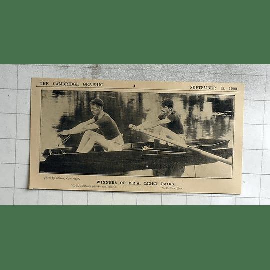 1900 Firbank And Few, Winners Of Cra Light Pairs, Cambridge