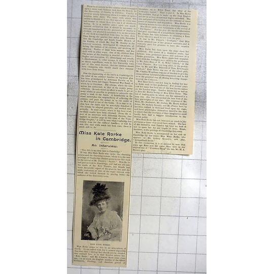 1900 An Interview With Ms Kate Rorke In Cambridge