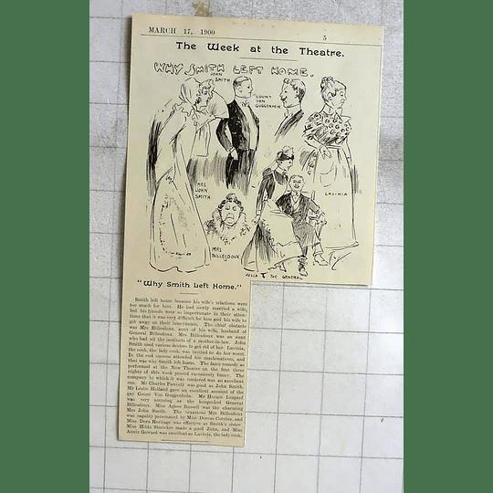 1900 Why Smith Left Home, Cambridge Theatre