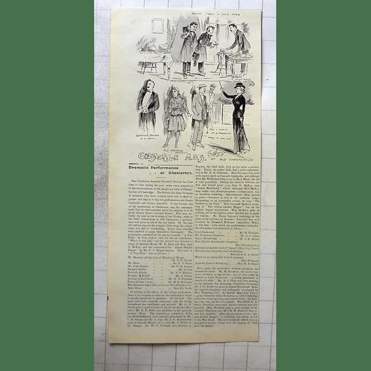 1900 Chesterton Amateur Dramatics Society Performances