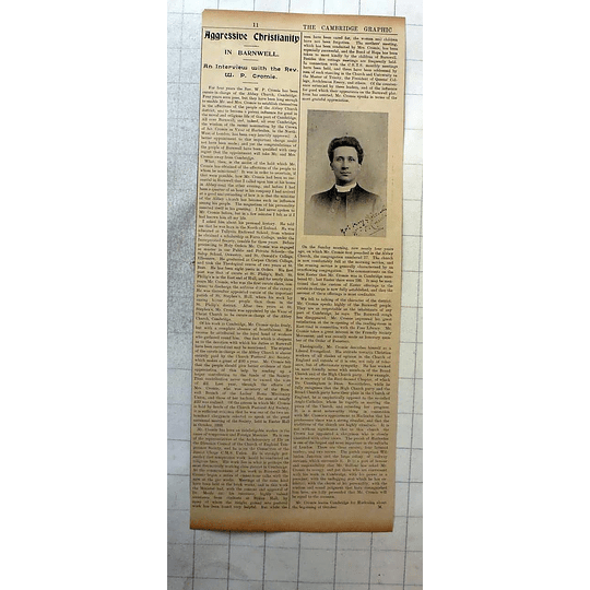 1900 Interview With The Rev Wp Cromie In Barnwell