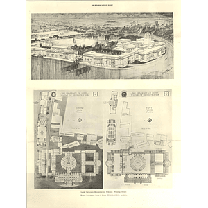 1927 Leeds University Reconstruction Scheme, Winning Design