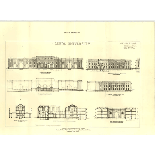 1927 Leeds University Reconstruction Scheme Ashley, Newman, Proposal