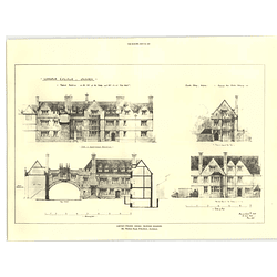 1927 The Lincoln College Oxford, Proposed Buildings, Herbert Read