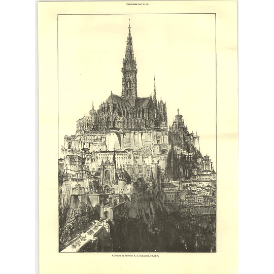 1927 Fantasy Cathedral City By Prof Ae Richardson