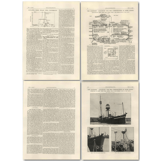1927 The Lightship Albatross, Commission Irish Lights, Robb, Leith 1