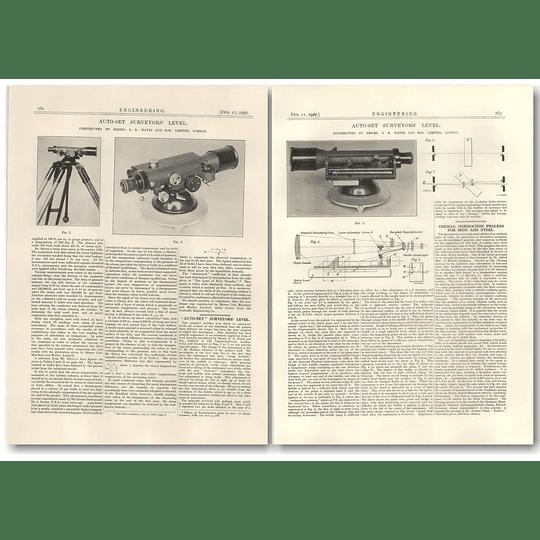 1927 Auto-set Surveyors Level, Watts, London
