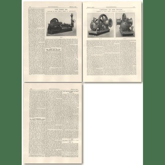 1927 Deep Boring Rig, Mine Haulage, Usines Derihon Loncin-lez-liege
