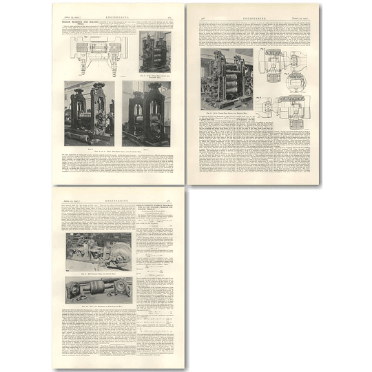 1927 Roller Bearings For Rolling Mills