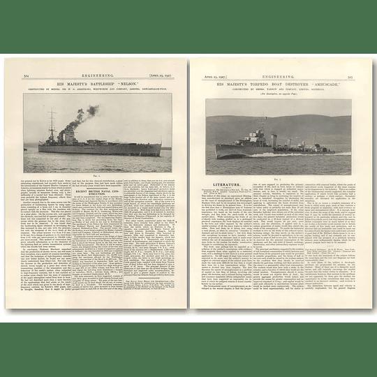1927 New Construction Battleship Nelson, Torpedo Boat Ambuscade
