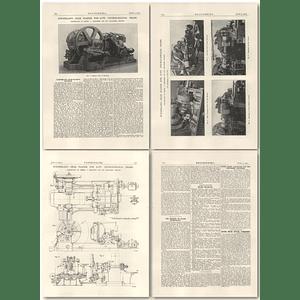 1927 Sunderland Gear Planer For Helical Gears, Parkinson, Shipley