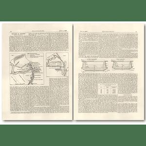 1926 The Port Of Antwerp, Plan, Extensions, Bollengier