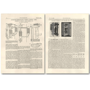1926 Absorption Refrigerator Without Moving Parts, Electrolux Luton