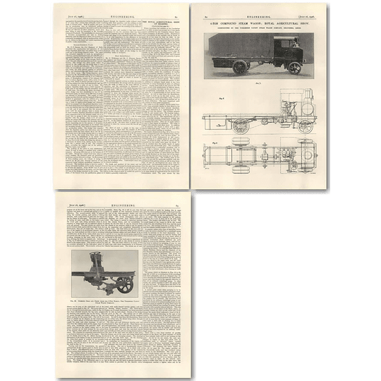 1926 6 Ton Compound Steam Wagon, Yorkshire Patent Company Leeds